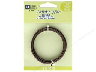 beading & jewelry making supplies: Artistic Wire 14 Gauge Tarnish Resistant Antique Copper 10 ft
