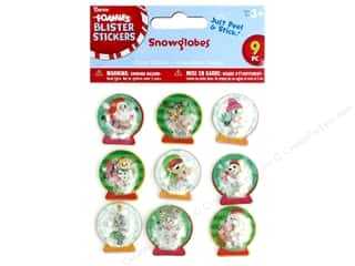 stickers: Darice Sticker Blister Snowglobe 9 pc