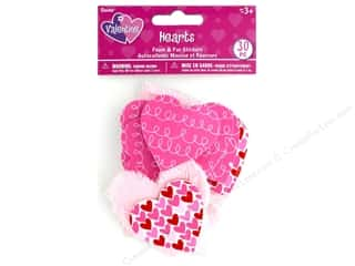 stickers: Darice Sticker Valentine Foam N Fur Heart 30 pc