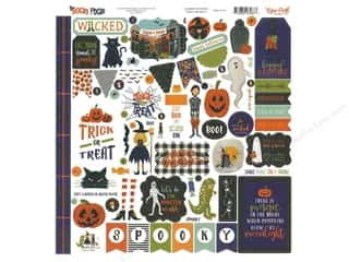 pumpkins: Echo Park Collection Hocus Pocus Sticker 12 in. x 12 in. Elements (15 pieces)