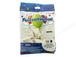 Balloon: Pioneer Funsational Balloons 12 in. 15 pc. White