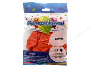 Pioneer Funsational Balloons 12 in. 15 pc. Orange