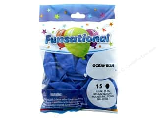 Balloon: Pioneer Funsational Balloons 12 in. 15 pc. Ocean Blue