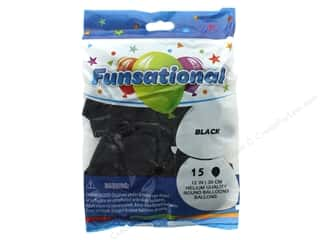Balloon: Pioneer Funsational Balloons 12 in. 15 pc. Crystal Black