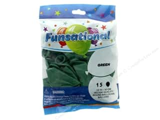 Balloon: Pioneer Funsational Balloons 12 in. 15 pc. Green