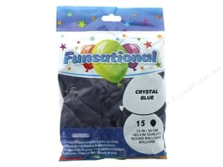 Pioneer Funsational Balloons 12 in. 15 pc. Crystal Blue