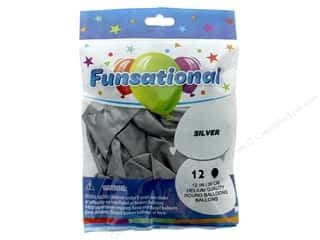 Pioneer Funsational Balloons 12 in. 12 pc. Metallic Silver
