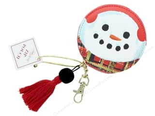 Clearance: Lady Jayne Zip Pouch Holiday Snowman Gold Foil