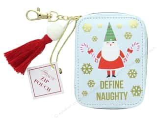 Clearance: Lady Jayne Zip Pouch Holiday Define Naughty Gold