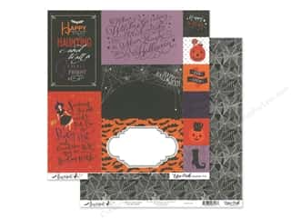 pumpkins: Echo Park Collection Bewitched Paper 12 in. x 12 in. Journaling Cards (25 pieces)