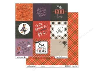 Echo Park Collection Bewitched Paper 12 in. x 12 in. Journaling Cards 4 in. x 4 in. (25 pieces)