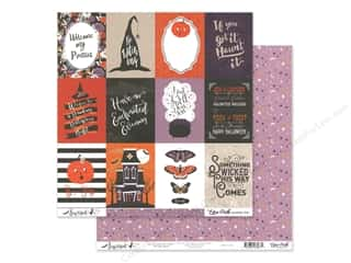 Echo Park Collection Bewitched Paper 12 in. x 12 in. Journaling Cards 3 in. x 4 in. (25 pieces)