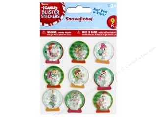 craft & hobbies: Darice Sticker Blister Snowglobe 9 pc