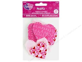 craft & hobbies: Darice Sticker Valentine Foam N Fur Heart 30 pc