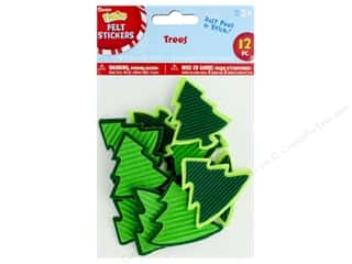 Darice Felties Sticker Tree Felt & Corrugate 12 pc