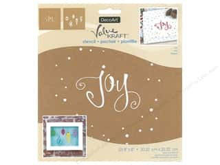 DecoArt Stencil Value Kraft 8 in. x 8 in. Christmas Joy
