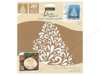 DecoArt Stencil Value Kraft 8 in. x 8 in. Christmas