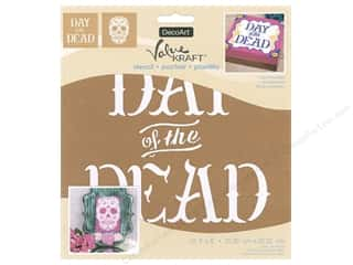 DecoArt Stencil Value Kraft 8 in. x 8 in. Halloween Day Of The Dead