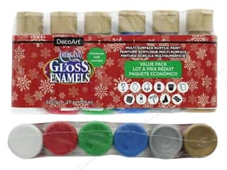 acrylic paint: DecoArt Americana Gloss Enamel Value Pack Christmas 6 pc