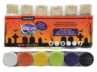 acrylic paint: DecoArt Americana Acrylic Paint Value Pack Halloween 6 pc