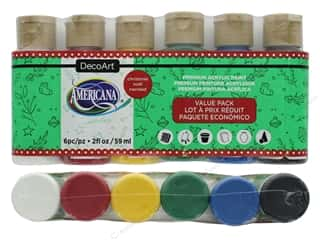 DecoArt Americana Acrylic Paint Value Pack Christmas 6 pc