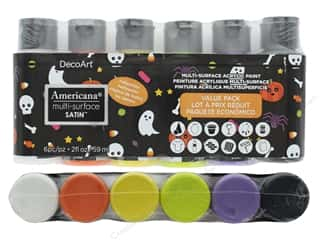craft & hobbies: DecoArt Americana Multi-Surface Satin Value Pack 6 pc. Halloween