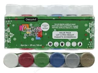 Acrylic Paint Blue: DecoArt Crafter's Acrylic Paint Value Pack Christmas 6 pc