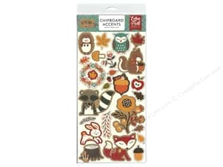 scrapbooking & paper crafts: Echo Park Celebrate Autumn Chipboard 6 in. x 12 in. Accents