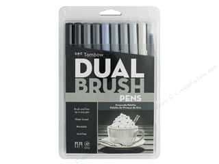 Tombow Dual Brush Pen Set Grayscale 10 pc