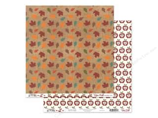 burlap: Echo Park Celebrate Autumn Paper 12 in. x 12 in. Colored Leaves (25 pieces)
