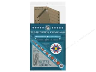 ruler: Robin Ruth Skinny Robin 45 deg. Mariner's Compass Ruler & Book