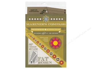 ruler: Robin Ruth Fat Robin 60 deg. Mariner's Compass Ruler & Book