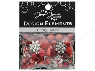 beading & jewelry making supplies: Jesse James Bead Design Element Cherry Tomato