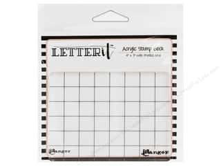 acrylic block: Ranger Letter It Acrylic Stamp Block