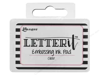 embossing ink: Ranger Letter It Embossing Ink Pad Clear