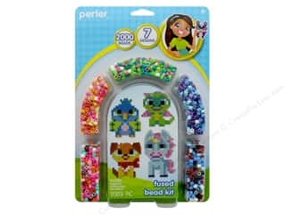 beading & jewelry making supplies: Perler Fused Bead Kit 2000 pc Fanciful Friends