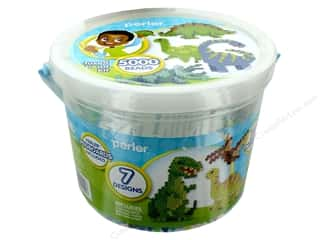 beading & jewelry making supplies: Perler Fused Bead Kit Bucket 5000 pc Dinosaurs