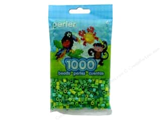 beading & jewelry making supplies: Perler Beads 1000 pc. Green Jewel Tone Mix