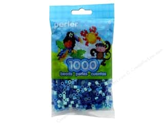 beading & jewelry making supplies: Perler Beads 1000 pc. Blue Jewel Tone Mix