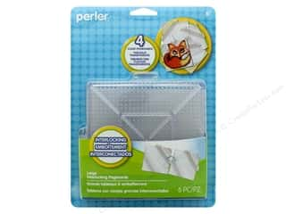 beading & jewelry making supplies: Perler Fused Bead Pegboards Clear Large 4 pc