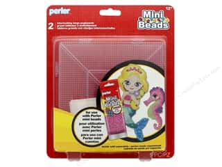 beading & jewelry making supplies: Perler Fused Bead Pegboards Mini Bead 2 pc