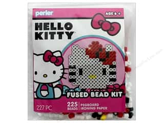 beading & jewelry making supplies: Perler Fused Bead Kit Trial 227 pc Hello Kitty Face