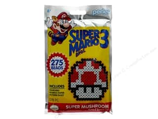 beading & jewelry making supplies: Perler Fused Bead Kit Trial 278 pc Super Mario Brothers 3 Super Mushroom