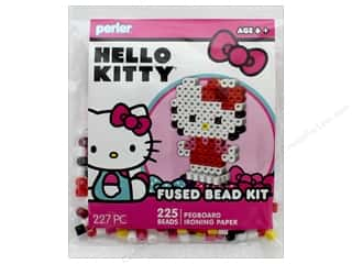 beading & jewelry making supplies: Perler Fused Bead Kit Trial 227 pc 3D Hello Kitty