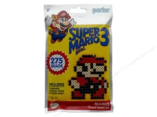 beading & jewelry making supplies: Perler Fused Bead Kit Trial 278 pc Super Mario Brothers 3 Mario