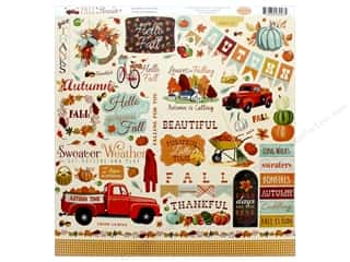 pumpkins: Carta Bella Fall Break Sticker 12 in. x 12 in. (15 sets)