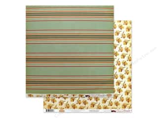 Carta Bella Fall Break Paper 12 in. x 12 in. Scarecrow Stripe (25 pieces)