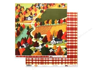 Carta Bella Fall Break Paper 12 in. x 12 in. Harvest Town (25 pieces)