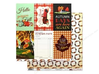 pumpkins: Carta Bella Fall Break Paper 12 in. x 12 in. Journaling Cards 4 in. x 6 in. (25 pieces)