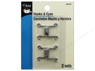 Dritz Hooks & Eyes - Rectangle Nickel 2 pc.